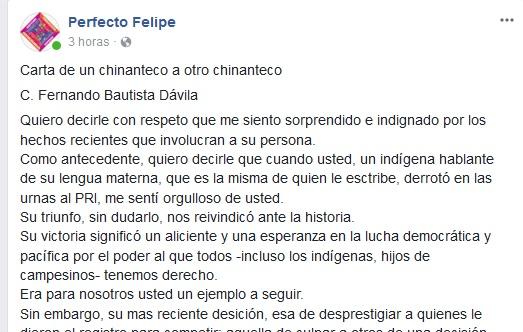 """""""Usted ya no me representa, es traicionero"""": Carta de un líder indígena a Dávila"""