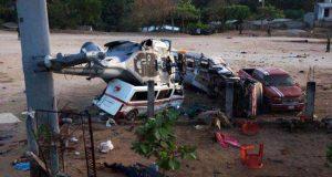 Sobreviviente de la caída de helicóptero en Jamiltepec pide ayuda a Peña y a Murat