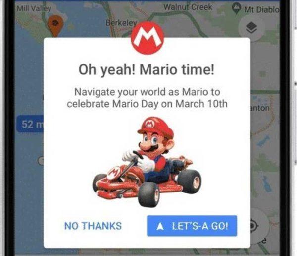 Mario Bros te acompañará en los viajes por medio Google Maps
