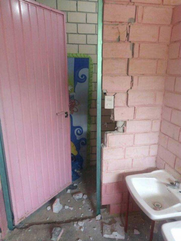 Olvidan autoridades, Primaria de Bethania dañada por sismos