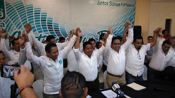 Presenta Nueva Alianza a sus candidatos a diputados locales y presidencias municipales