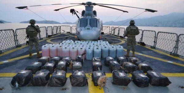 Detiene Semar a 5 con media tonelada de cocaína en costas de Guerrero