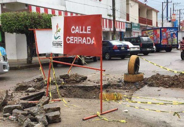 Detectan más de 20 socavones críticos en Tuxtepec