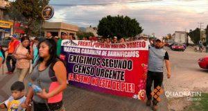 Llega caravana de afectados por los sismos a Huajuapan
