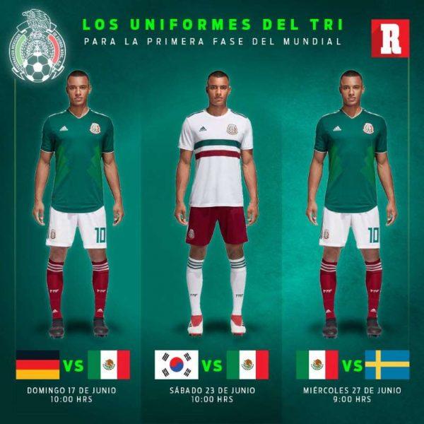 Así vestirá la Selección Mexicana en el Mundial de Rusia 2018