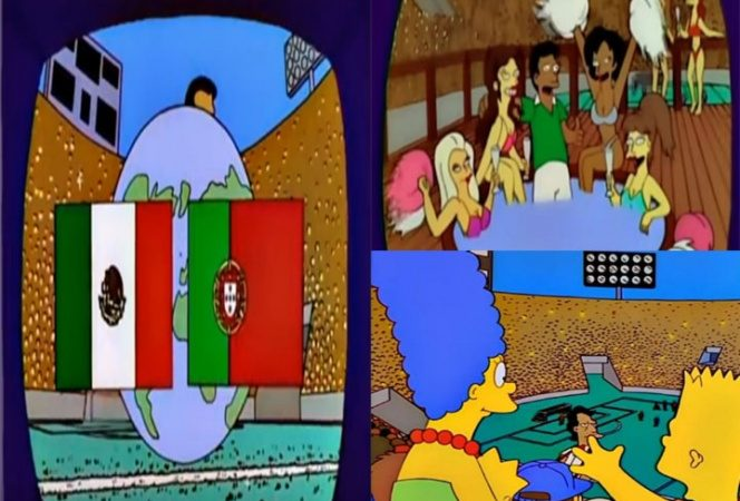 Los Simpsons predicen México-Portugal para la final del Mundial