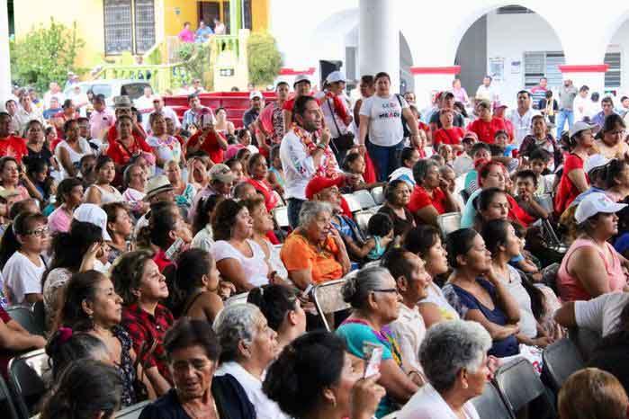 Magno apoyo del Barrio La Soledad a Raúl Bolaños Cacho Cué