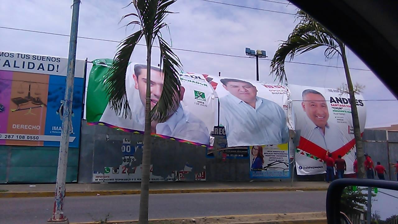 Brigadistas de Dávila quitan lonas de candidatos de otros partidos ...