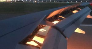 Se incendia avión de Arabia Saudita