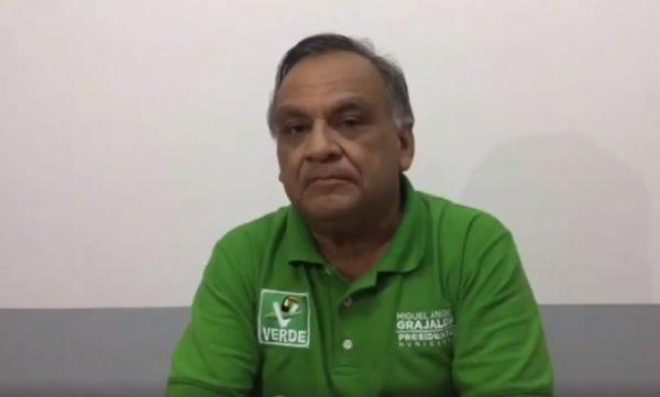 Grajales reconoce virtual triunfo de Dávila
