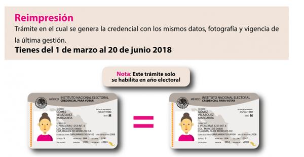 Hoy es el último día para solicitar la reimpresión de la credencial para votar