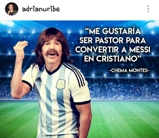 Adrián Uribe se arde y humilla a Lionel Messi