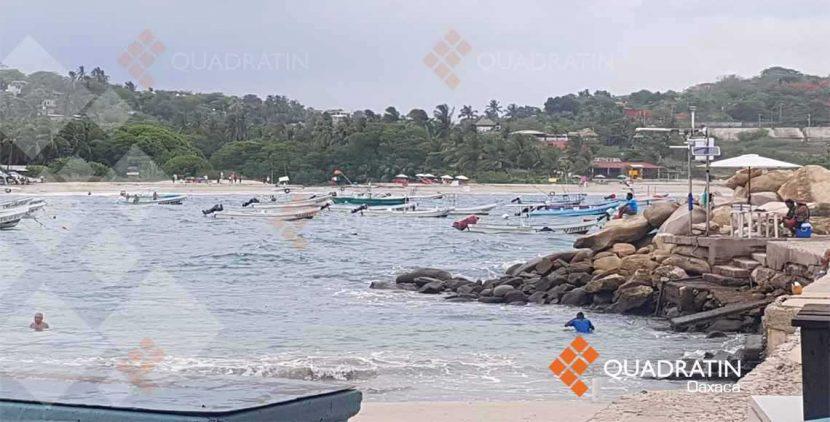 Cierran la navegación en playas de Oaxaca por fenómeno ciclónico