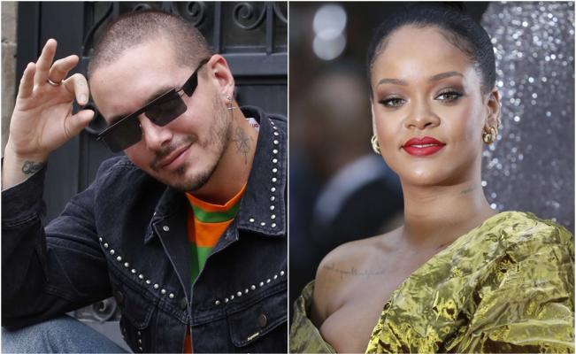 J Balvin se intimida al conocer a Rihanna