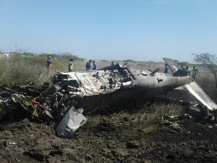 Cae avión en Base Militar de Ixtepec