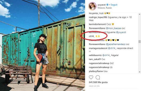 Chicharito enciende el instagram de Yuya