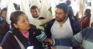 En el zócalo protesta Unión Campesina e Indígena Nacional e instala plantón