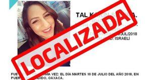 Localizan a salvo a mujer israelí desaparecida en Oaxaca