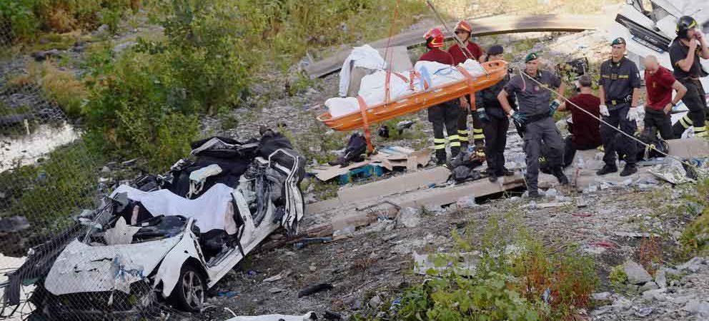 Ya son 37 muertos por derrumbe en Génova