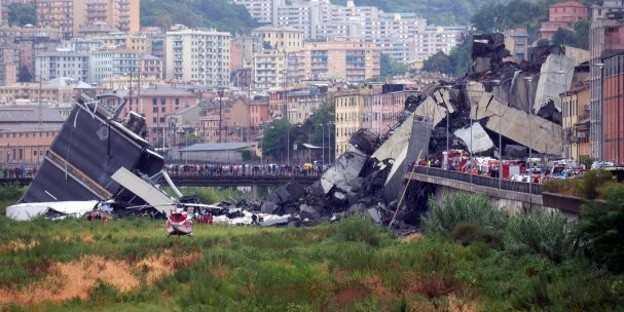 30 muertos por derrumbe de puente en Génova, Italia