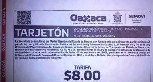 Si no hay tarjetón no se pagan los 8 pesos, reitera concesionario
