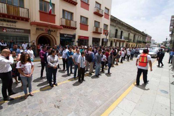 Responde Oaxaca al Macrosimulacro Nacional 2018