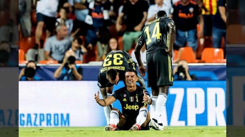 Con todo y berrinche, Cristiano Ronaldo se fue expulsado en Champions League