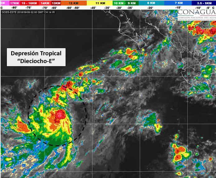 Depresión tropical se convierte en tormenta tropical 'Paul'