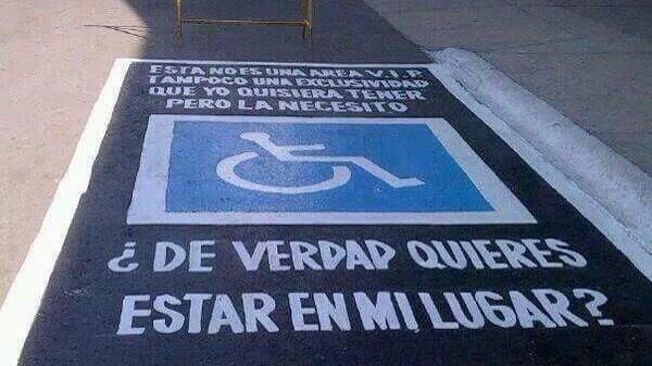 Sí existen leyes, pero no hay multas para los que no respetan nuestros espacios: Discapacitados