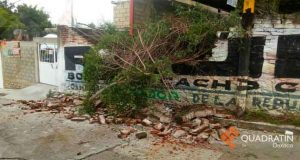 Tromba causa daños en la Mixteca