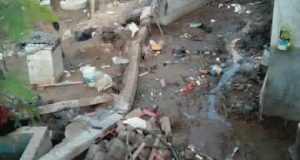 Varias viviendas afectadas deja tromba en Pinotepa