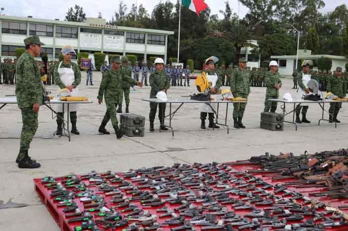 Armas decomisadas al crimen organizado serán destruidas: SEDENA
