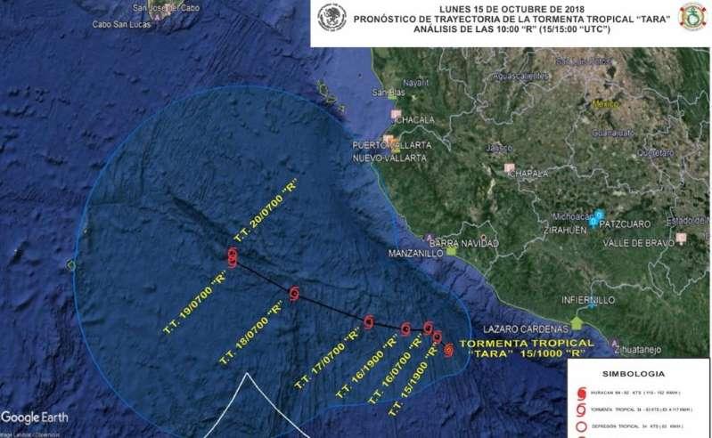 """Activan Plan Marina en Colima, Jalisco y Michoacán por tormenta """"Tara"""""""