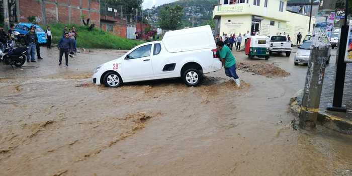 CEPCO atiende daños menores por lluvias
