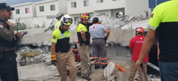 Derrumbe en Monterrey, deja al menos 5 muertos