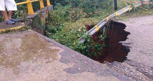 Puente de Vega de Sol en peligro de colapsar