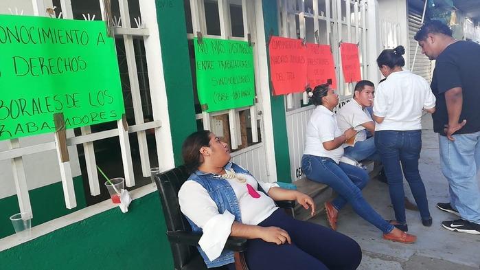Sindicalizados de SAGARPA se suman a la huelga en Tuxtepec
