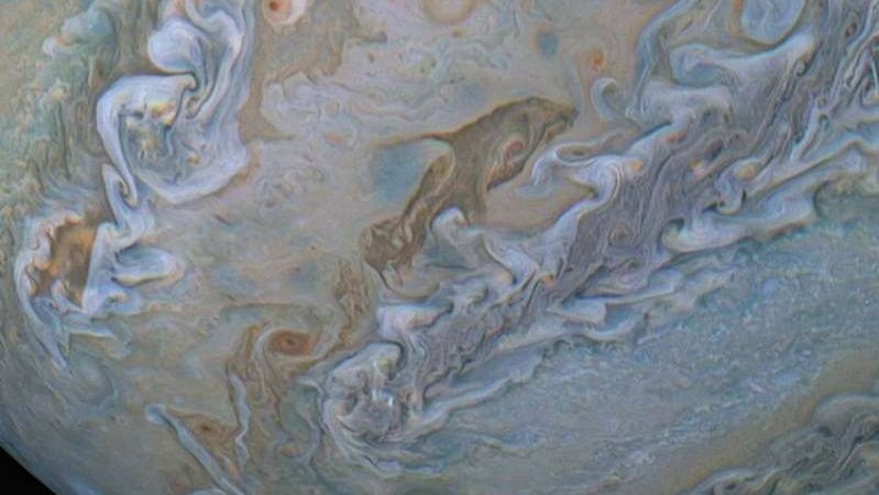 La NASA encuentra un 'delfín' en Júpiter
