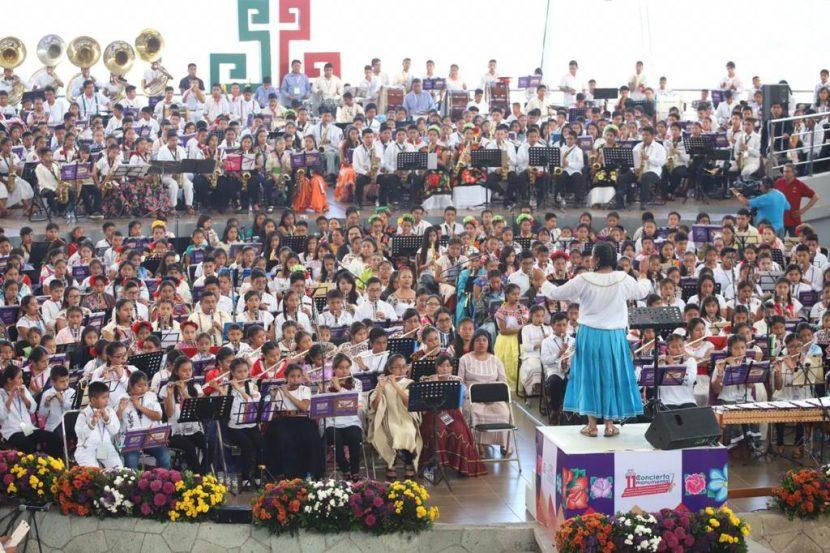 Realizan 11avo Concierto Monumental de Bandas de Viento Infantiles y Juveniles de Oaxaca