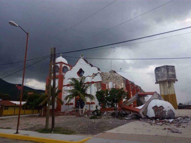 Sismo terminó por derrumbar iglesia en el Istmo