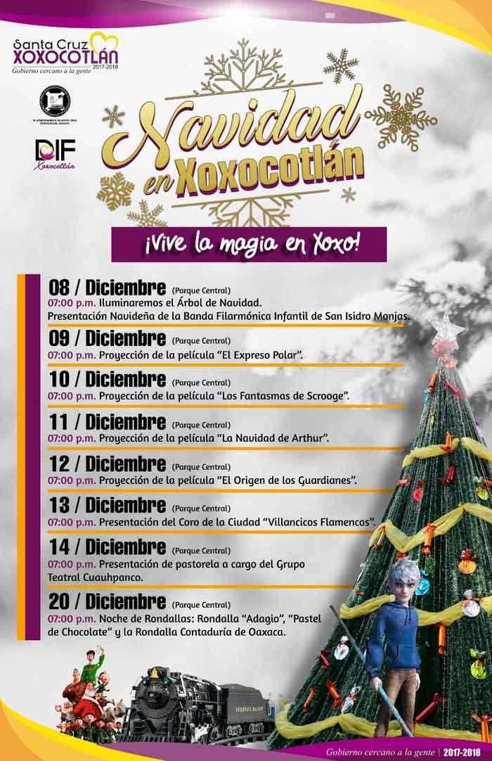 Anuncian festival navideño en Xoxocotlán