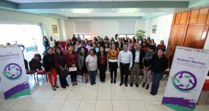 Realizan encuentro regional de Mujeres Electas a ocupar puestos públicos municipales