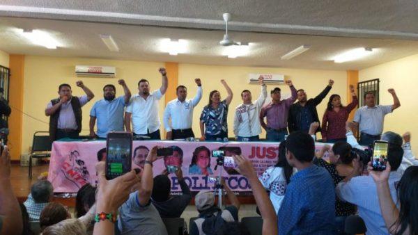 Expresos de la CNTE agradecen a AMLO su liberación
