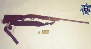 Detiene Policía Estatal en la Costa, a una persona por la portación ilegal de un arma de fuego