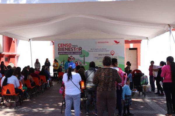 Realizan censo y registro a programas prioritarios del gobierno federal en Santa Lucia del Camino