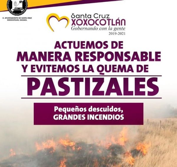 Inicia campaña para prevenir incendios en Xoxocotlán