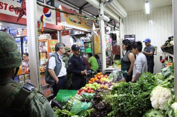 Continúan operativos de proximidad social, ahora en los mercados de la ciudad de Oaxaca