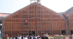 Supervisa AMH avance en la reconstrucción del mercado de Juchitán