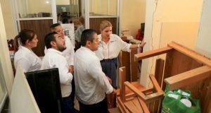 Ivette Morán visita Centro de Atención Múltiple Nº 17 de Santa María Huatulco
