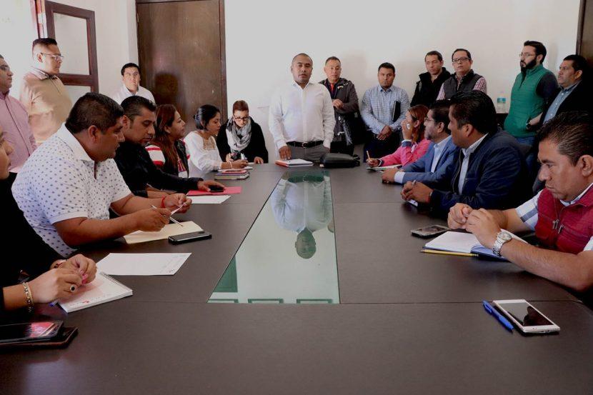 Dante Montaño se reúne con su gabinete y llama a redoblar esfuerzos por Santa Lucia del Camino